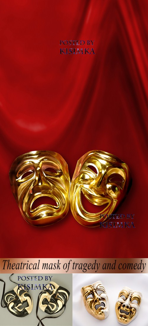 Stock Photo: Theatrical mask of tragedy and comedy