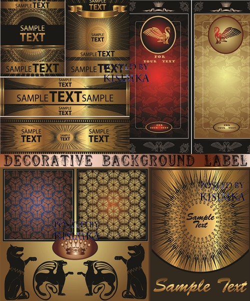 Stock: Decorative background label