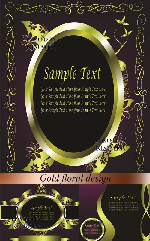 Stock: Gold floral design