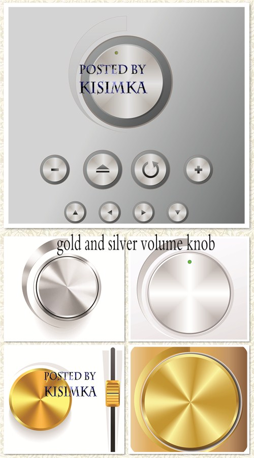 Stock: Gold and silver volume knob
