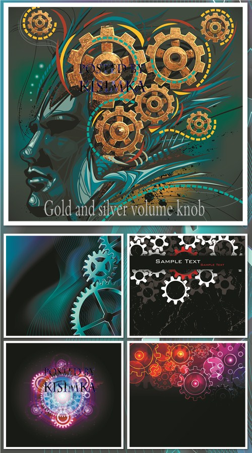 Stock: Vector gears background