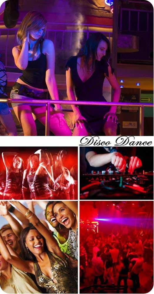 Девушки танцуют ночной клуб stock photo