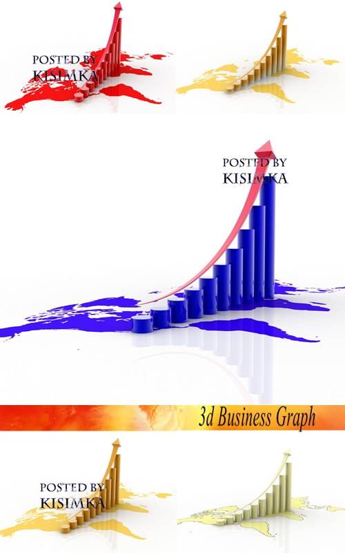 Stock Photo: 3d Business Graph
