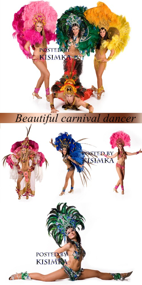Stock Photo: Beautiful carnival dancer