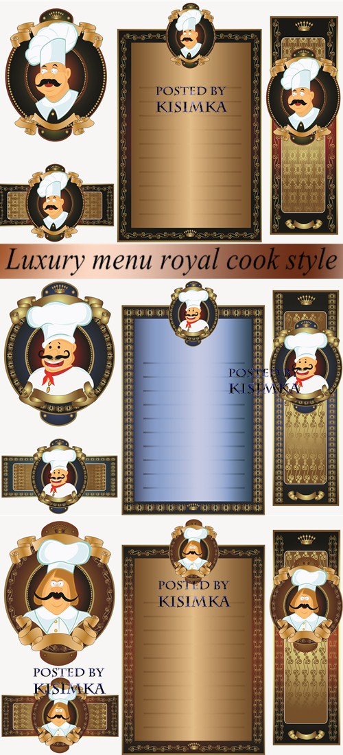 Stock: Luxury menu royal cook style