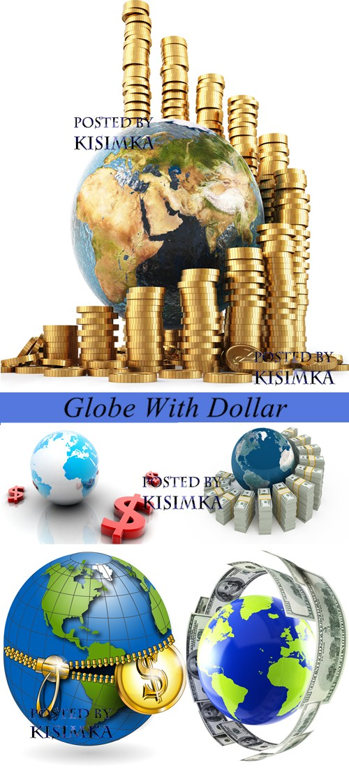 Stock Photo: Globe With Dollar