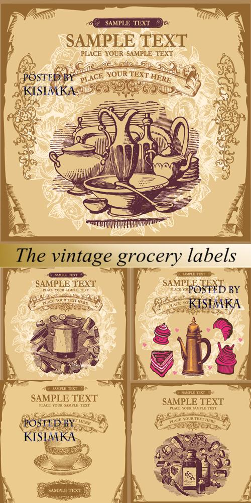 Stock: The vintage grocery labels