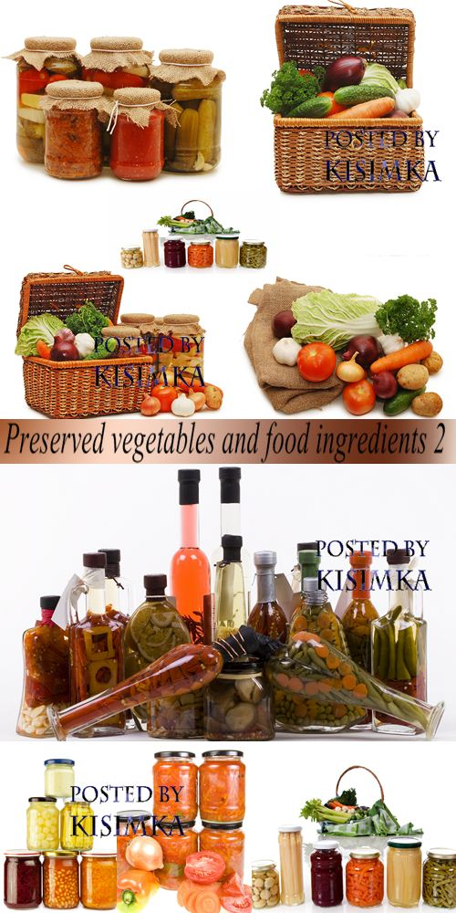Stock Photo: Preserved vegetables and food ingredients 2