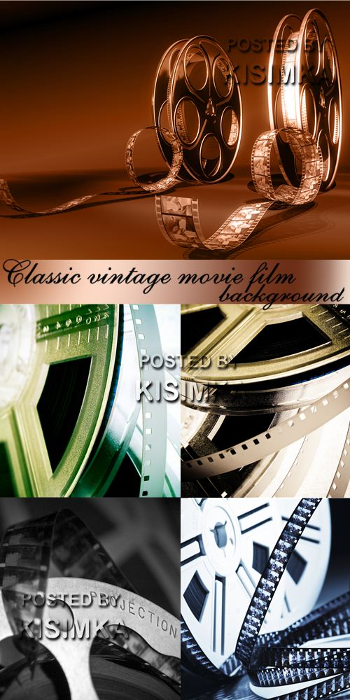 Stock Photo: Classic vintage movie film background