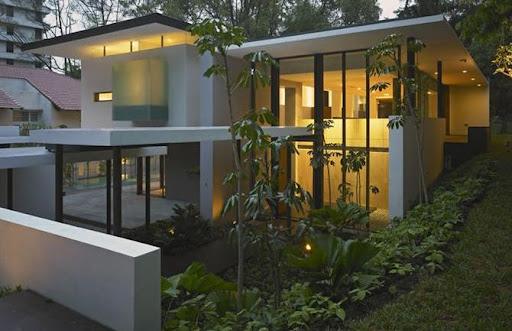 Rumah dengan atap datar