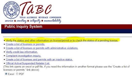 51% lookup now available online @ TABC website! - TexasCHLforum.com