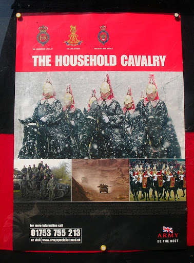 Afiche de recluta Household Cavalry London England United Kingdom Londres Inglaterra