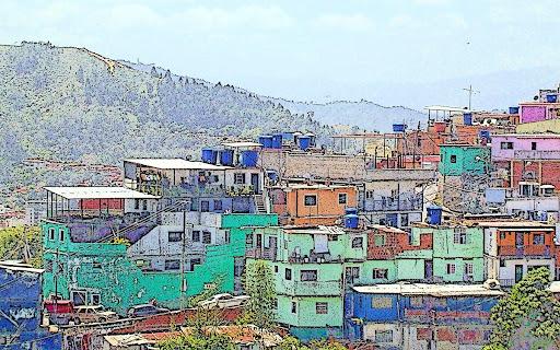 Vida luminosa del Barrio El Calvario Municipio El Hatillo Caracas Venezuela)
