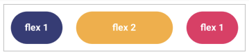 Elements with flex: 1 and flex: 2