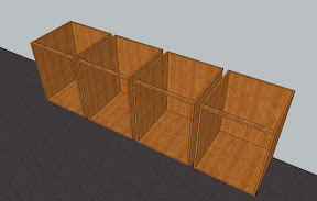 individualy built cabinet boxes