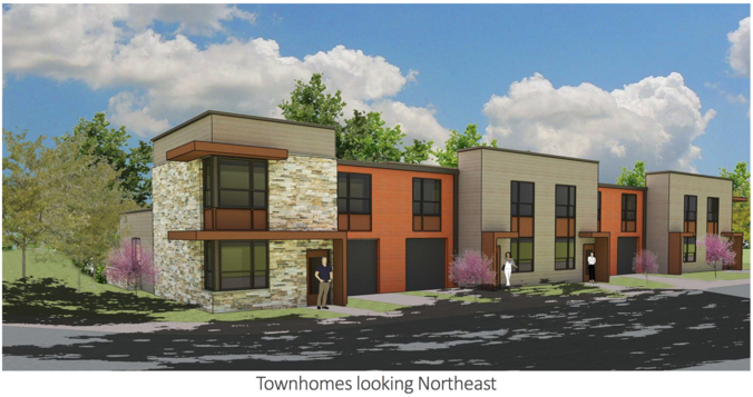 Townhomes looking northeast