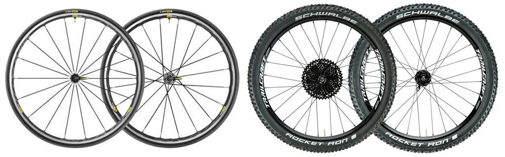 road wheels vs mountain wheels