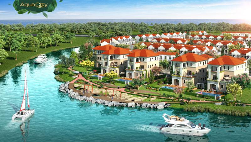 phoi canh biet thu aqua city