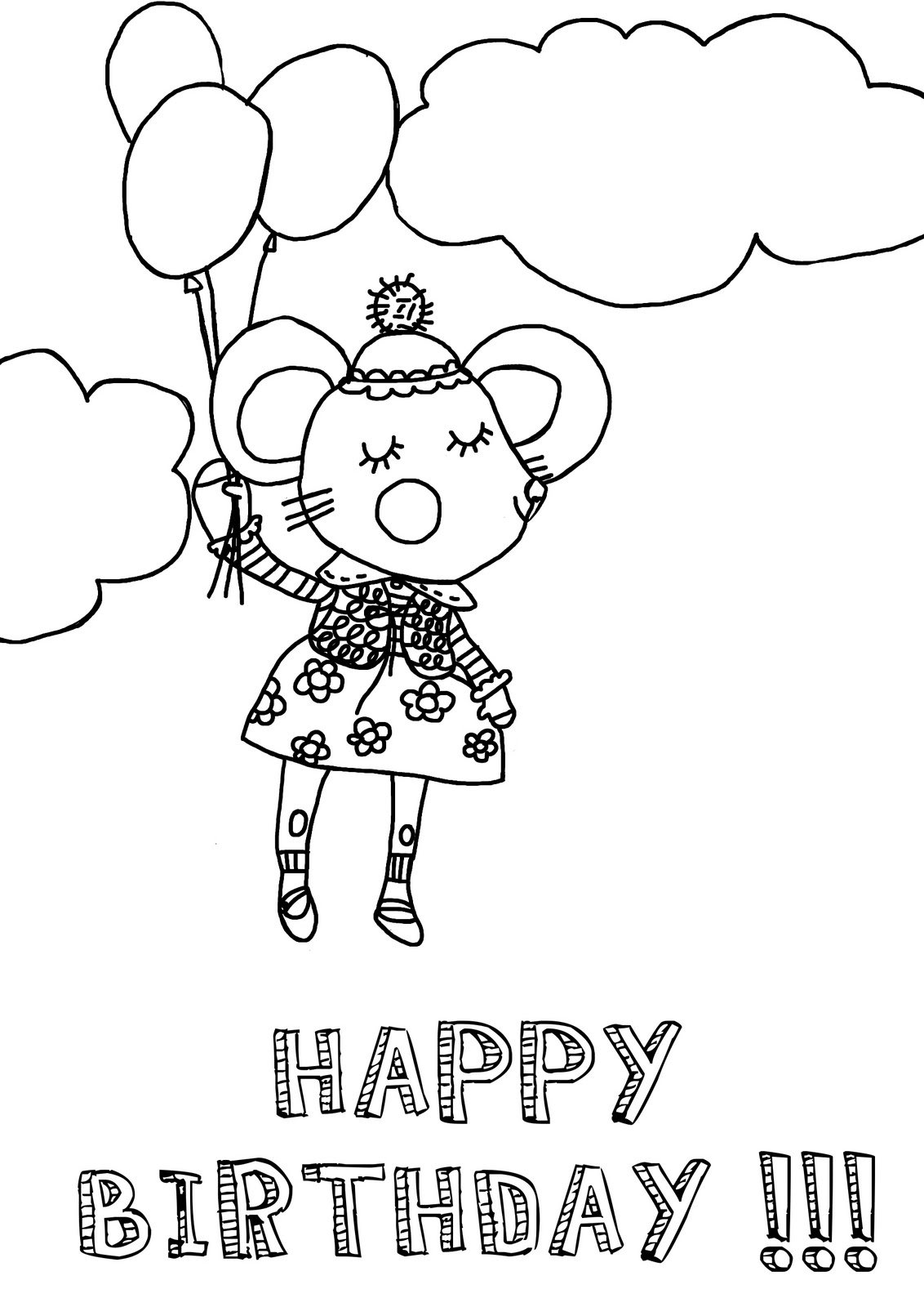 Dessin a colorier pour anniversaire - Dessin pour anniversaire ...