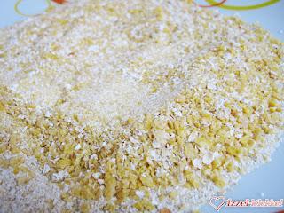 zab és kukoricapehely panír