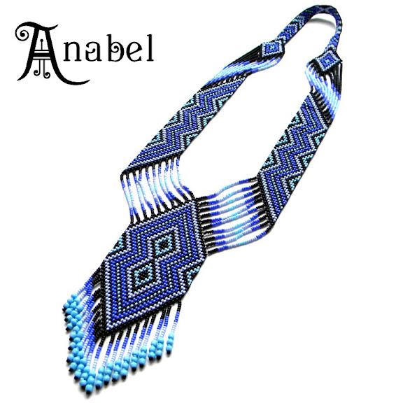 купить гердан (гайтан) сине-фиолетовой расцветки Anabel