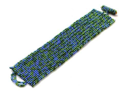 купить заказать браслет из бисера сине-зеленой расцветки