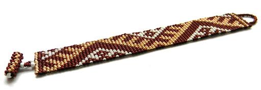 комплект (гердан и браслет) бежево коричневый Anabe