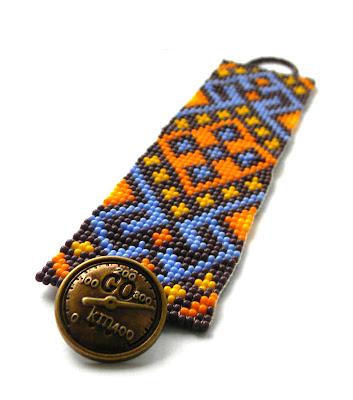 этнические украшения из бисера купить украина россия браслет