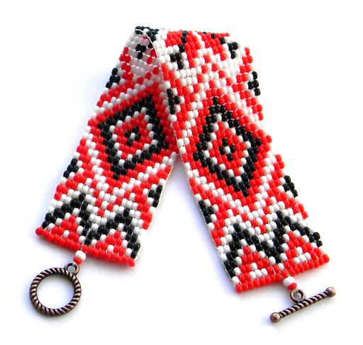 славянские украшения языческие алатырь браслет из бисера
