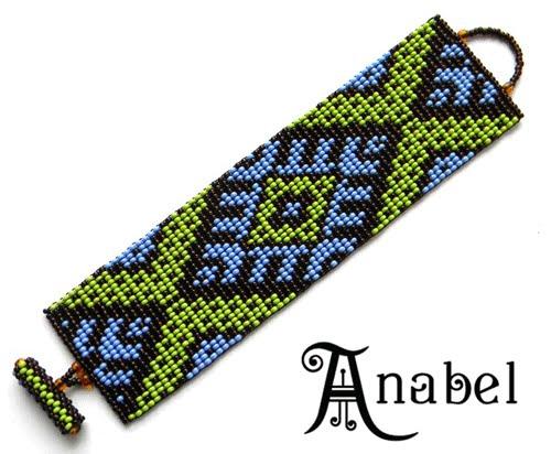 браслет из бисера с украинским орнаментом купить заказать