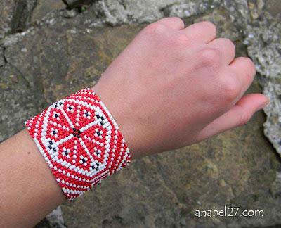 купить заказать браслет этнический из бисера Anabel