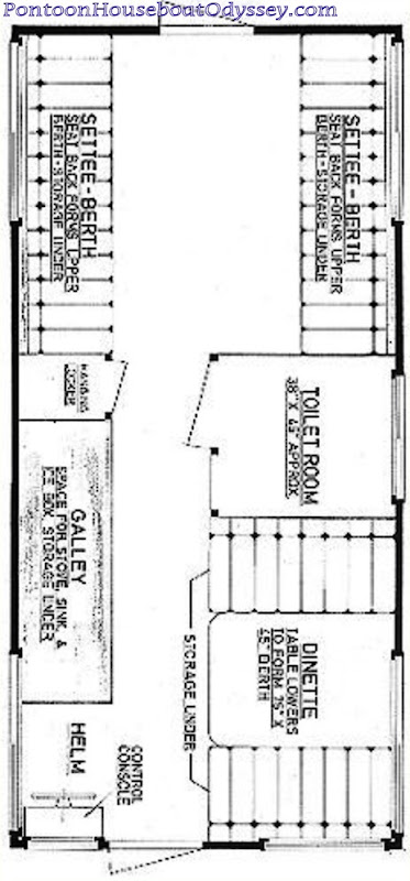 gallery for gt pontoon houseboat floor plans