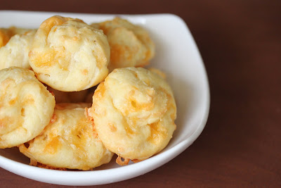 photo of Gougères piled in a bowl