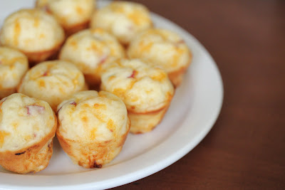 photo of a plate of Bacon pizza puffs