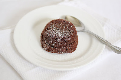 photo of a lava cake on a plate
