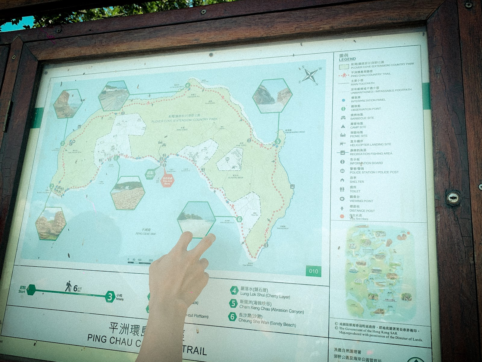 map and hand