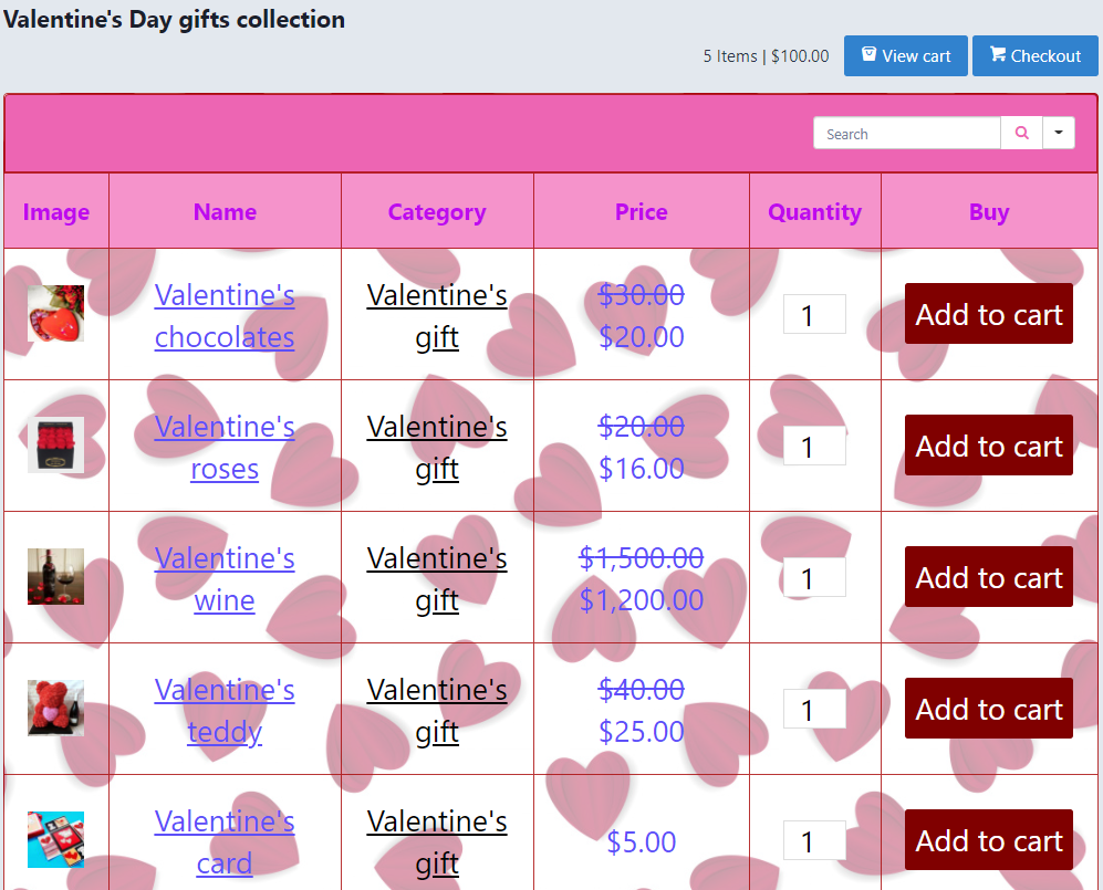 decorate and design product tables in Ninja Tables for WooCommerce sales