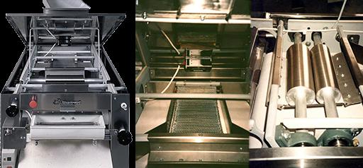 Μηχανισμός πλαστικής μηχανής πλάσεως ζύμης