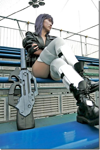 ghost in the shell cosplay - kusanagi motoko