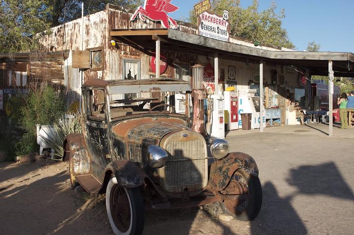 Gasolinera abandonada de la ruta 66.
