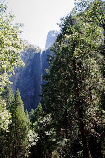 cascada velo de la novia en Yosemite
