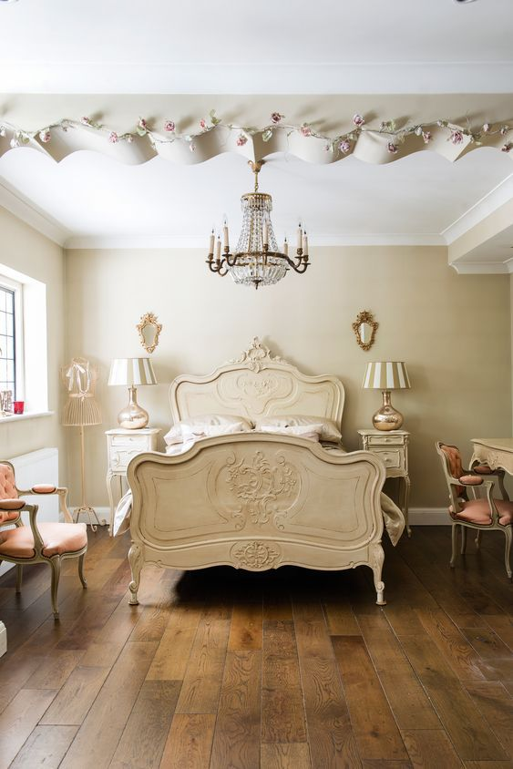 Go Miniature Style With A Wood Carved Single Bed Frame