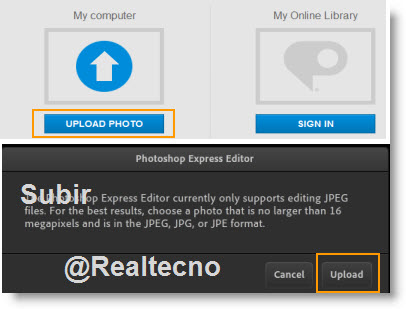 Retocar Fotos Online con Photoshop Express