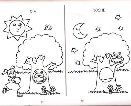 Dibujos Para Colorear Del DIA Y Noche La