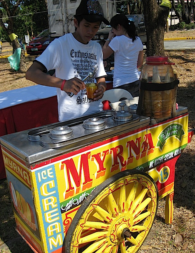 'dirty' ice cream cart