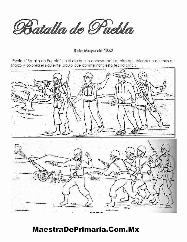 Ejercicio Del Día De La Batalla De Puebla Maestra De Primaria