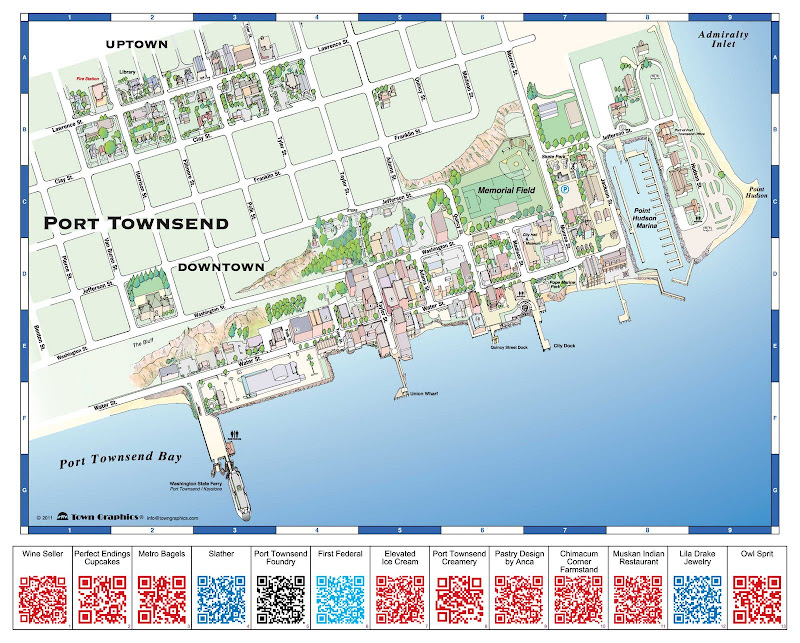 Town Graphics Port Townsend QR Code Map Mock-up