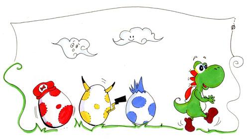 Yoshi la cloche de Pâques