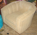 Channel back chair - before