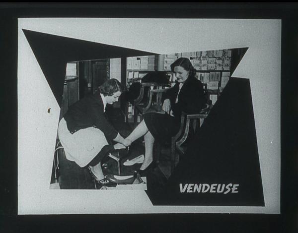 Films fixes et publicités de quartier (educational filmstrips) sur www.filmfix.fr : La conquête d'une profession - Fille